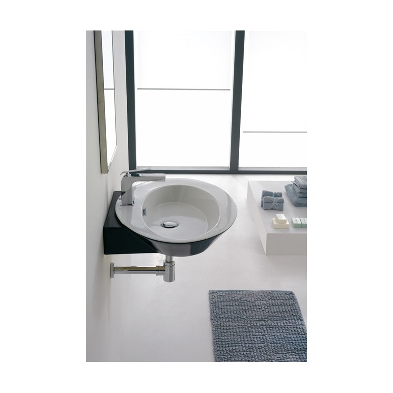 lavabo sospeso moon asimmetrico : SCARABEO - WHISH LAVABO ASIMMETRICO DA APPOGGIO O SOSPESO cm 68X51 ...