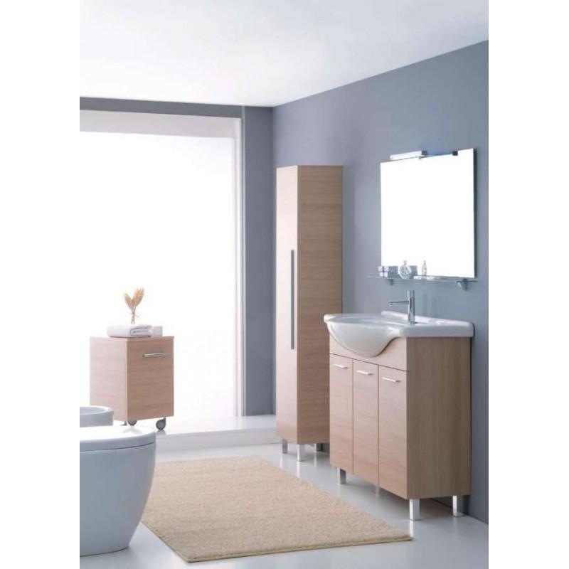 Elleemmeci composizione bagno 46 mobile per consolle - Mobile bagno rovere sbiancato ...