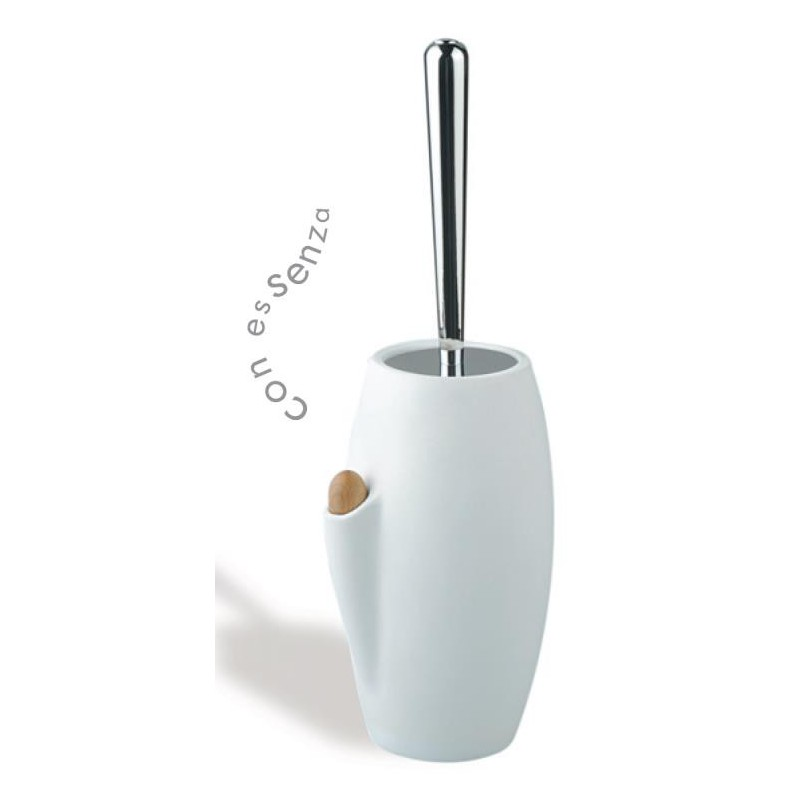 Stilhaus zefiro porta scopino in ceramica bianca da appoggio con diffusore di profumo compra - Porta scopino bagno ...